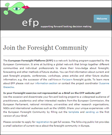 European Foresight Platform (EFP)